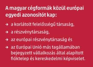 európai egyedi azonosító