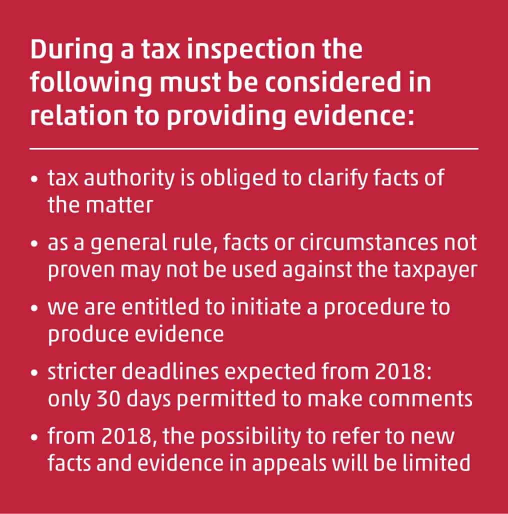 Tax inspection of taxpayers