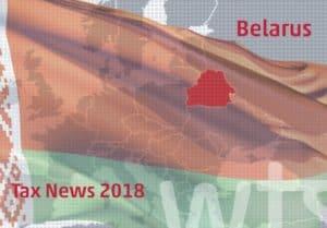 Belarus Tax News 2018