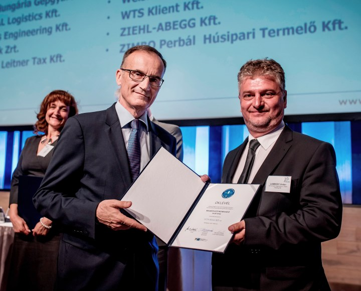 WTS Klient Hungary awarded title of Reliable Employer