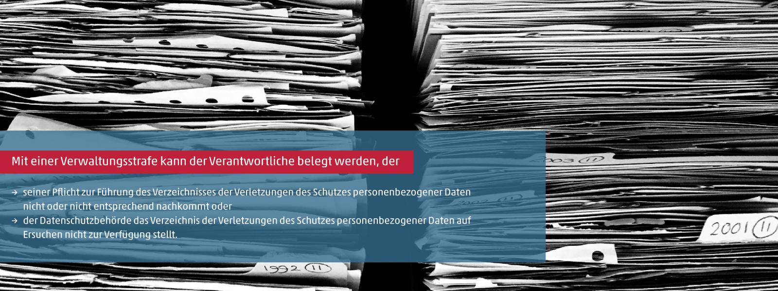 Verzeichnis der Verletzungen des Schutzes personenbezogener Daten