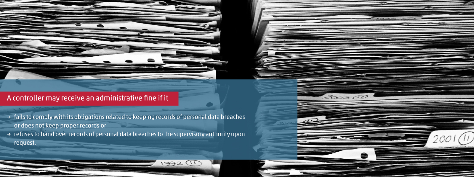 Keeping records of personal data breaches