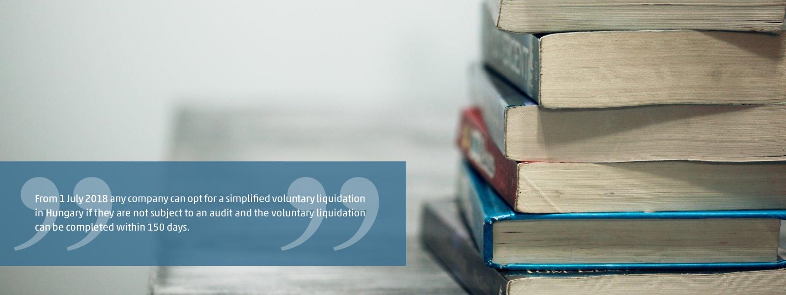 Simplified voluntary liquidation