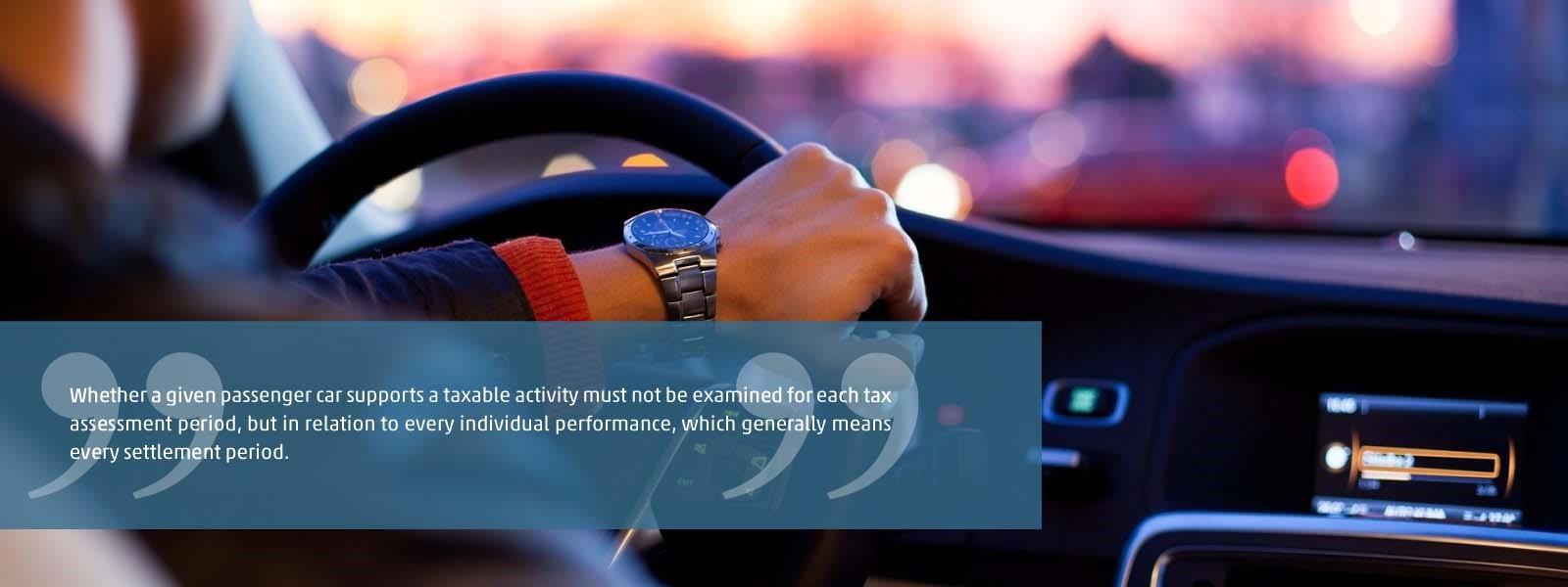 Tax issues regarding company cars