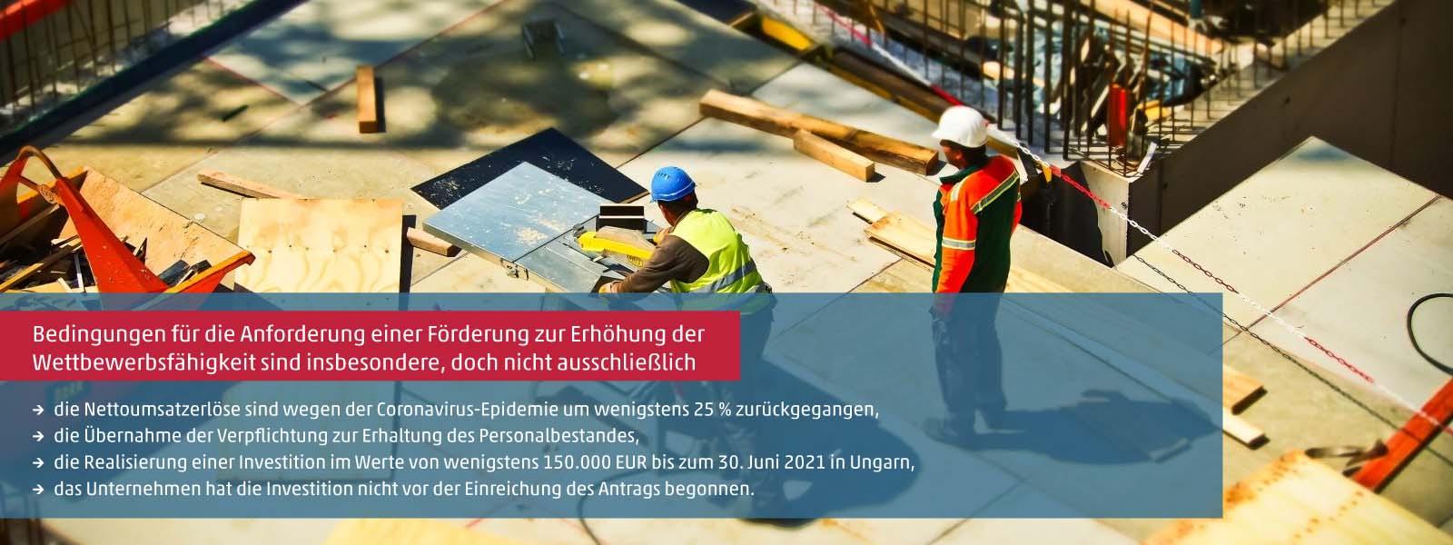 Förderung zur Erhöhung der Wettbewerbsfähigkeit für Investitionen in Ungarn