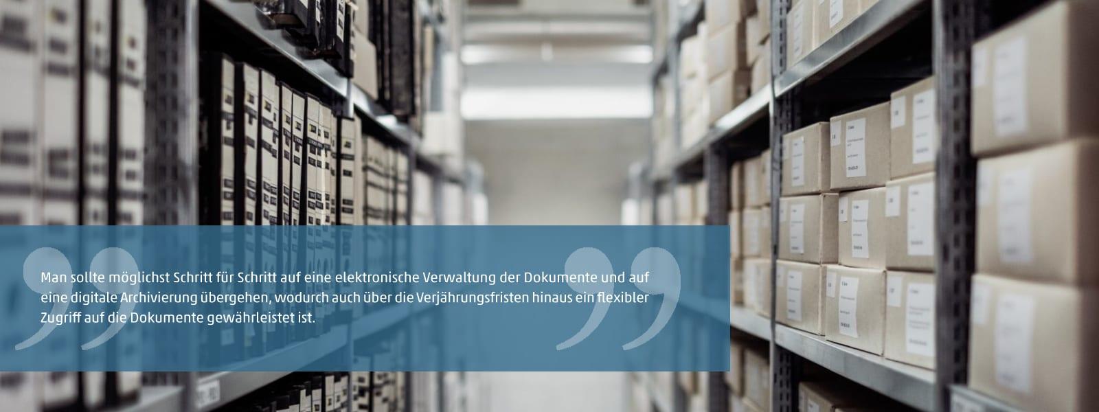 Aufbewahrung von Dokumenten und ihre Aussonderung