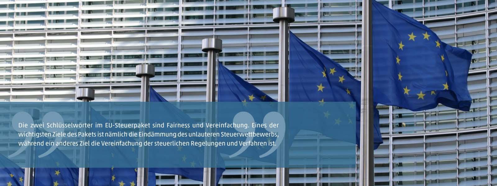 Neues EU-Steuerpaket für eine faire Besteuerung