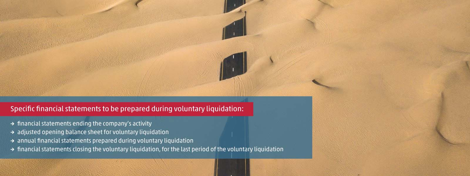Accounting requirements of financial statements prepared during voluntary liquidation