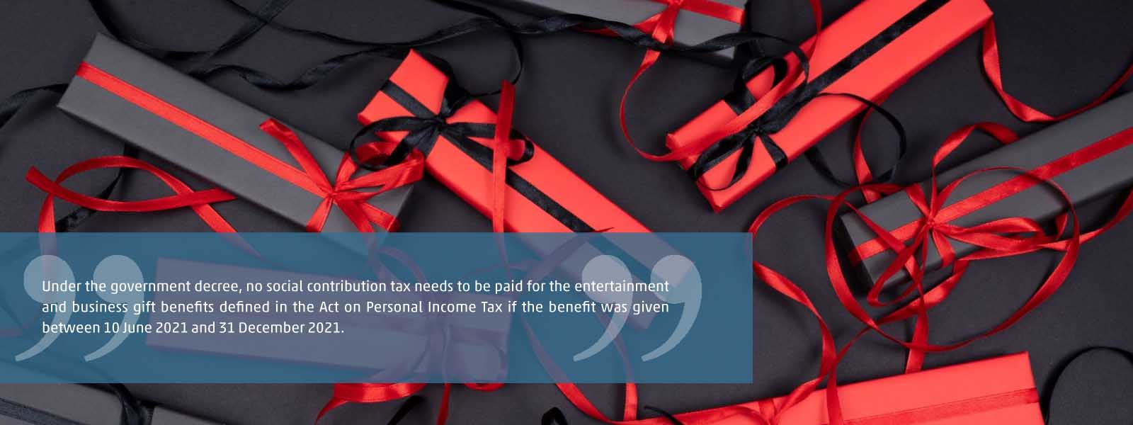 social contribution tax exemption